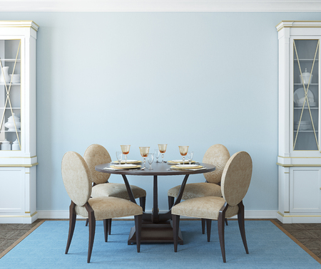 modern dining room: Modern dining-room interior.3d render.