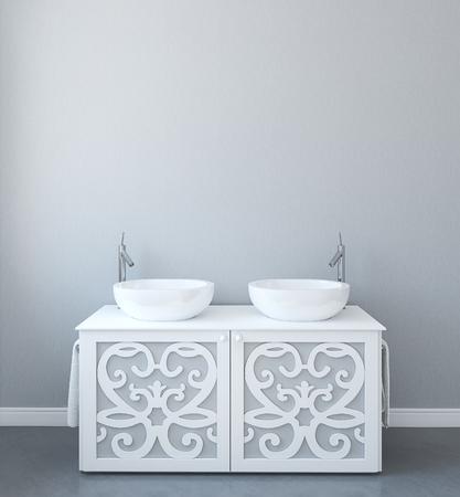 cuarto de ba�o: Moderno ba�o interior. 3d.
