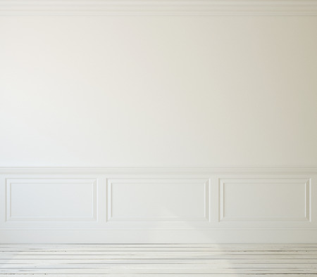 room wall: Interior. Empty white room. 3d render.
