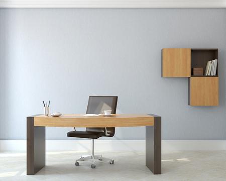 Moderne kantoor interior.3d maken. Stockfoto