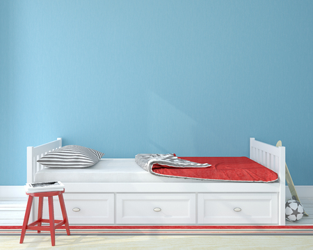 walls: Interior of nursery.Bedroom for child. 3d render. Stock Photo