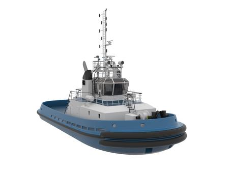 tug boat: Tug boat  isolated on white background.3d render. Stock Photo