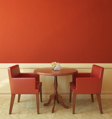현대 커피 하우스의 내부입니다. 3d 렌더링입니다. 스톡 콘텐츠