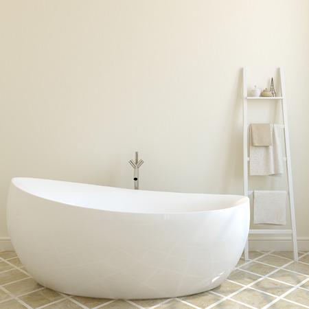 marble wall: Interior of modern bathroom. 3d render.