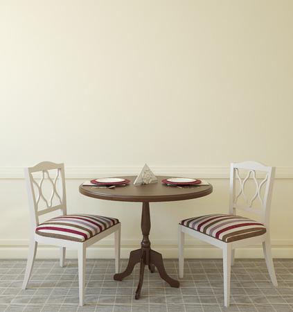 diningroom: Interior of modern coffee house. 3d render. Stock Photo