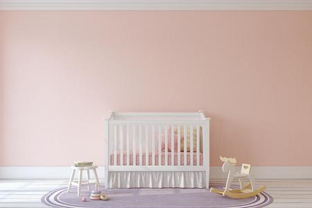 Interior of nursery. Mockup. 3d render. Archivio Fotografico