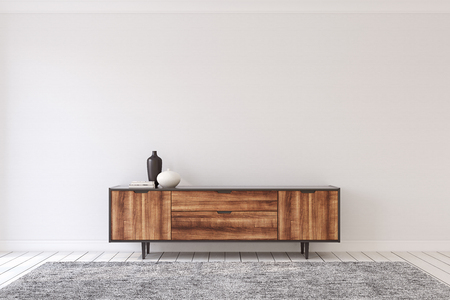 Interior with modern dresser. 3d render. Banque d'images