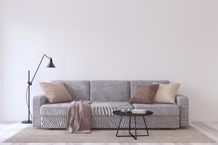 Living-room interior. 3d render. 版權商用圖片