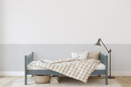 Toddler room. Interior mock-up. 3d render. 版權商用圖片