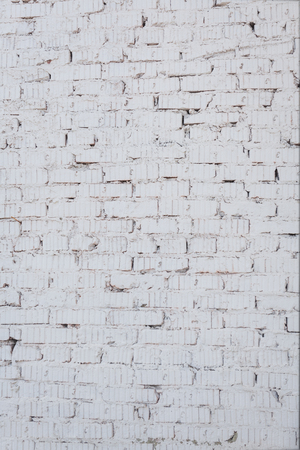 Muro fatto di mattoni bianchi. Struttura, vendemmia