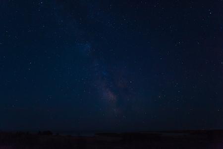 night sky with many brilliant stars over Kazakhstan