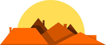 Rooftops vector illustration design