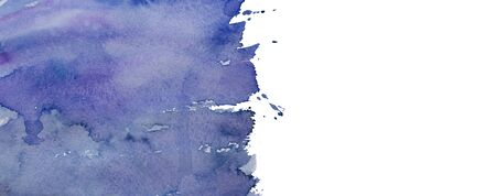 Abstract hand drawn watercolor violet and dark blue background. Place for text. 스톡 콘텐츠