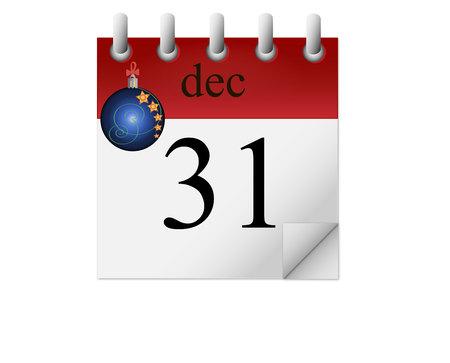 december kalender: kalender. 31 december