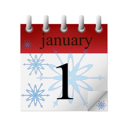 january 1: calendar. january 1 Illustration