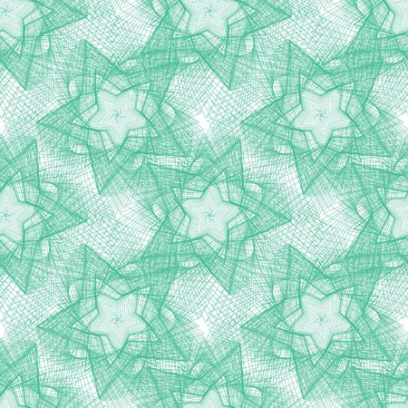 Abstract pattern green lines on a white background.