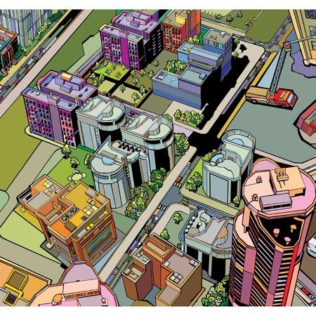 coloré construction urbaine ville Vecteurs