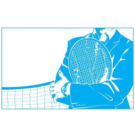 businessman with a tennis racket