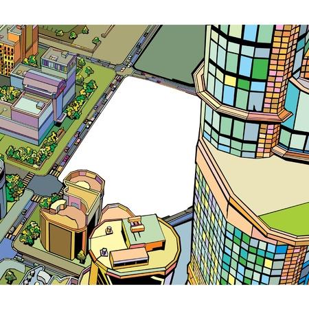 colorato edificio urbano della citt�