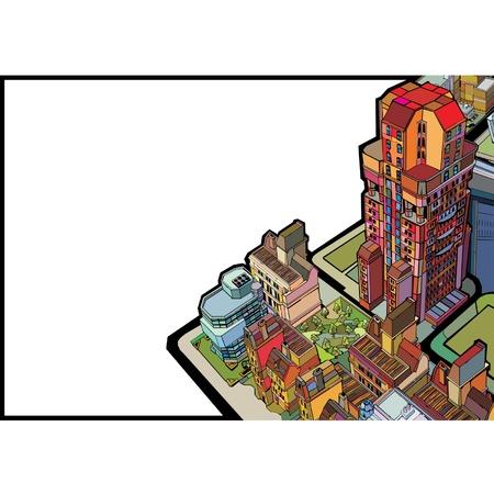 bâtiment coloré urbain ville  Vecteurs