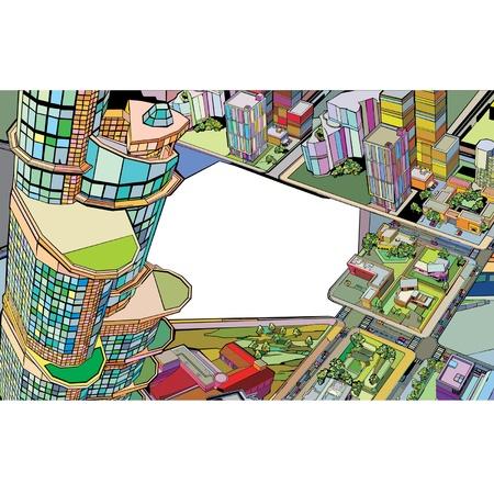 colorato edificio urbano citt�  Vettoriali