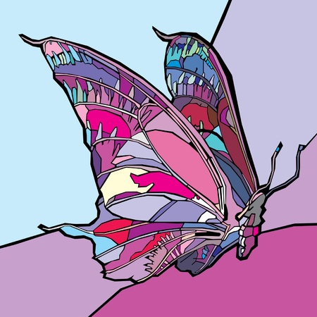Colorful butterfly. Vector.  Vector