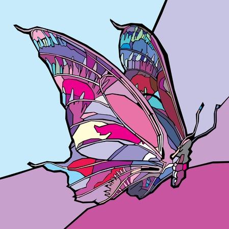 Farfalla colorata. Vector. Vettoriali