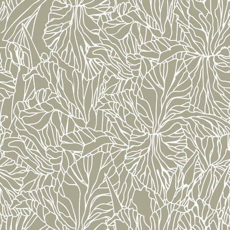 Elegance Seamless pattern with flowers narcissus and iris, vector floral illustration in vintage style  Illustration