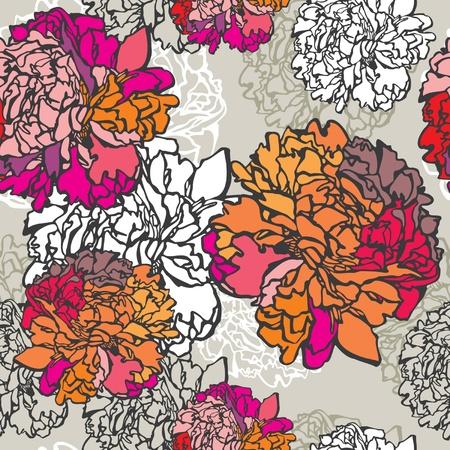 Vintage floral seamless pattern Vector