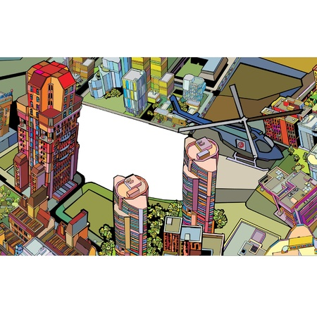 urban color city. vector illustration