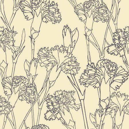 clous de girofle: Mod�le d'�l�gance transparente avec des fleurs, des gousses d'illustration vectorielle floral dans un style vintage Illustration