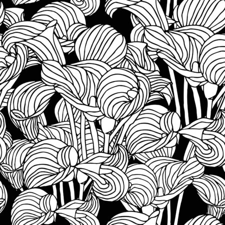 callas: Elegance Seamless pattern with callas flowers, vector floral illustration in vintage style