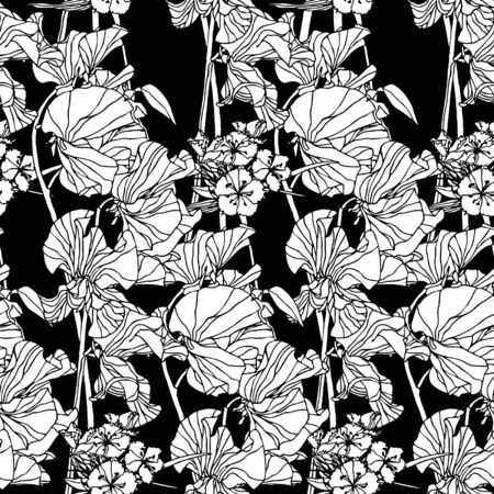 Elegance Seamless pattern with flowers, vector floral illustration in vintage style Stock Vector - 14177131