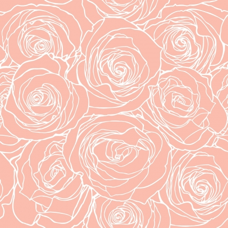 nature pattern: Elegance Seamless pattern with flowers rose, vector floral illustration in vintage style Illustration
