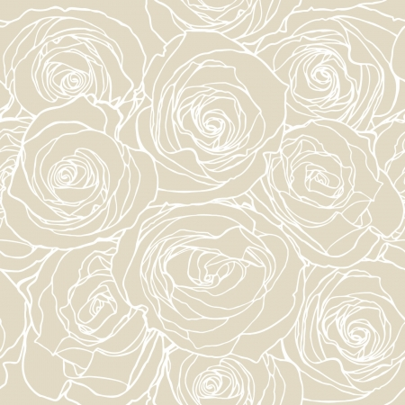 Elegance Seamless pattern with flowers rose floral illustration in vintage style Illustration