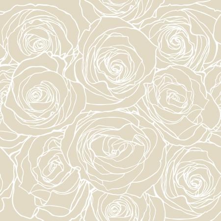 Modello Elegance Seamless con fiori rosa illustrazione floreale in stile vintage