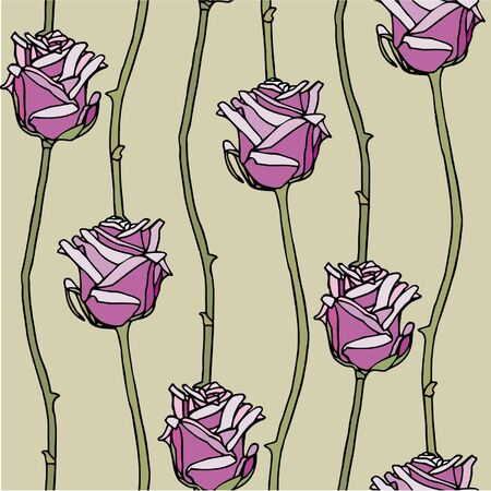 Elegance Seamless pattern with flowers rose  Vector