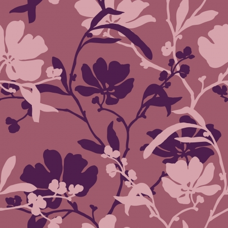優雅さと花、シームレス パターン ビンテージ スタイルの花のイラスト  イラスト・ベクター素材