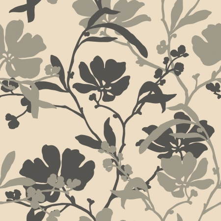 magnificence: Elegance Seamless pattern with flowers, floral illustration in vintage style Illustration