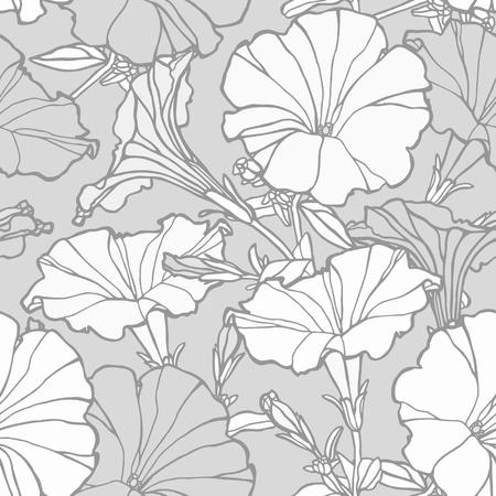 Elegance Seamless pattern with flowers, floral illustration in vintage style Illustration