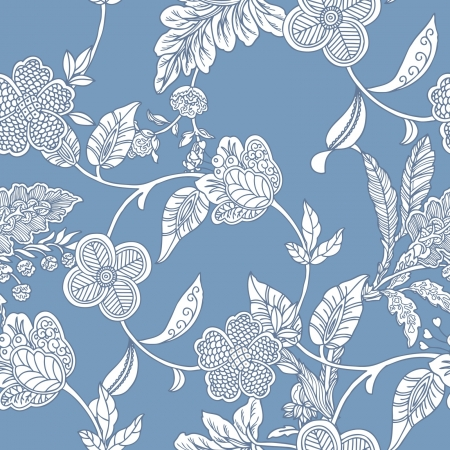 floral ornaments: Elegance Seamless pattern with flowers, floral illustration in vintage style Illustration
