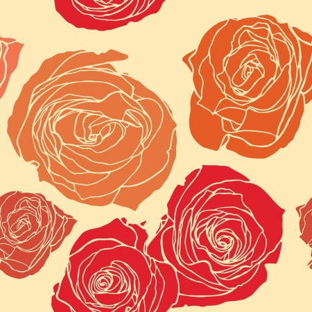 Elegance Seamless pattern with flowers roses, floral illustration in vintage style Illustration