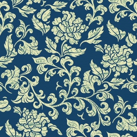 Elegance Seamless pattern with cornflowers flowers, floral illustration in vintage style