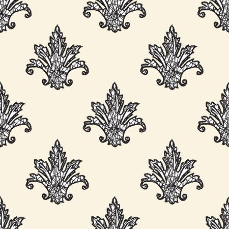 magnificence: Elegance Seamless pattern with flowers ornament, floral illustration in vintage style