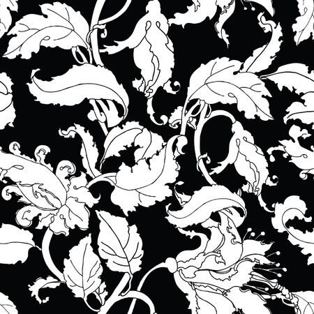 magnificence: Elegance Seamless pattern with flowers
