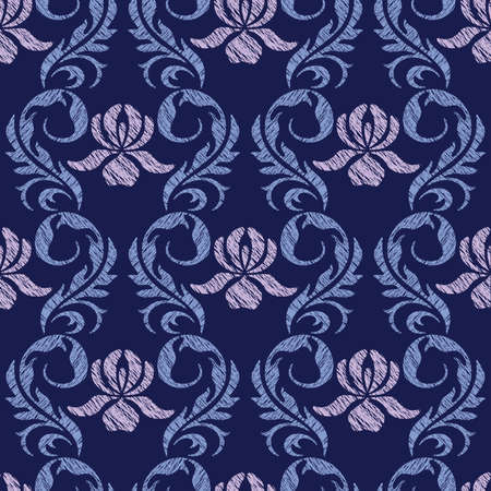 Elegance Seamless pattern with flowers ornament, vector floral illustration in vintage style Stock Vector - 24872254