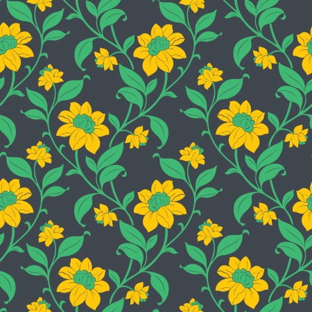 Elegance Seamless pattern with flowers, vector floral illustration in vintage style Stock Vector - 24901441