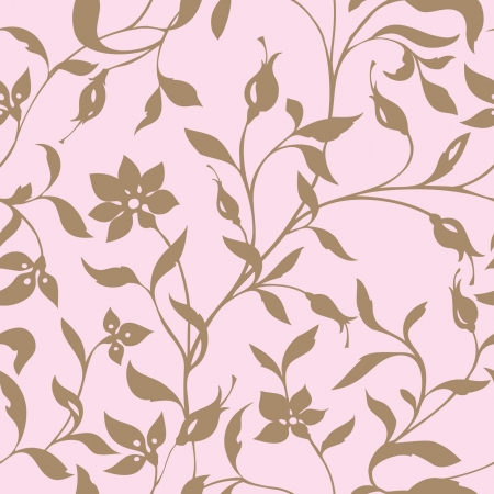iris flower: Elegance Seamless pattern with flowers, vector floral illustration in vintage style