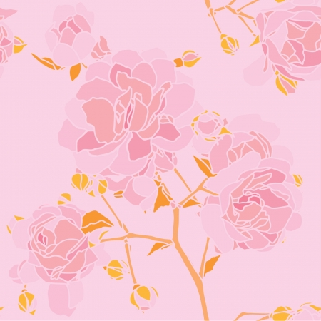 Elegance Seamless pattern with flowers roses, vector floral illustration in vintage style Stock Vector - 24896272