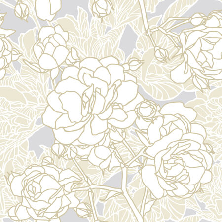 Elegance Seamless pattern with flowers roses, vector floral illustration in vintage style Stock Vector - 24896342
